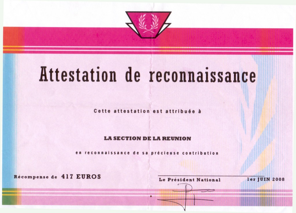 ATTESTATION2008