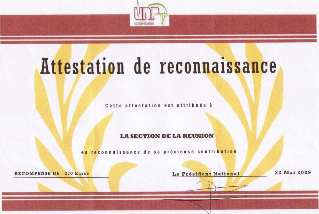 ATTESTATION2009